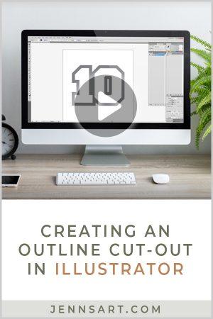 Creating an Outline Cut-Out in Illustrator | Jenn's Art Co