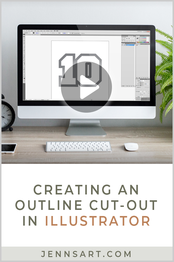 Creating an Outline Cut-Out in Illustrator | Jenn's Art Co