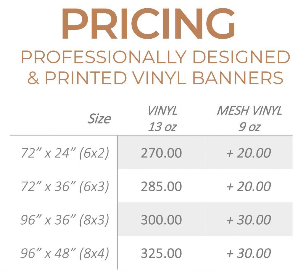 Vinyl Banner Pricing | Jenn's Art Co.