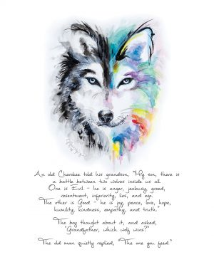 """The Wolves Inside Us"" Painting 