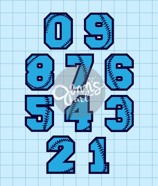 Baseball-Numbers-0-9 | Jenn's Art Co. SHOP