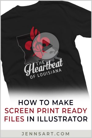 How to Make Screen Print Ready Files in Illustrator | Jenn's Art Company